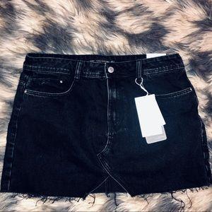 Zara Trafaluc Black Denim Skirt Sz. L